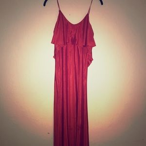 NWT bcbg red clay maxi dress xs